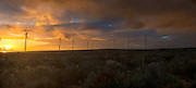 Sunset over Sere Wind Farm