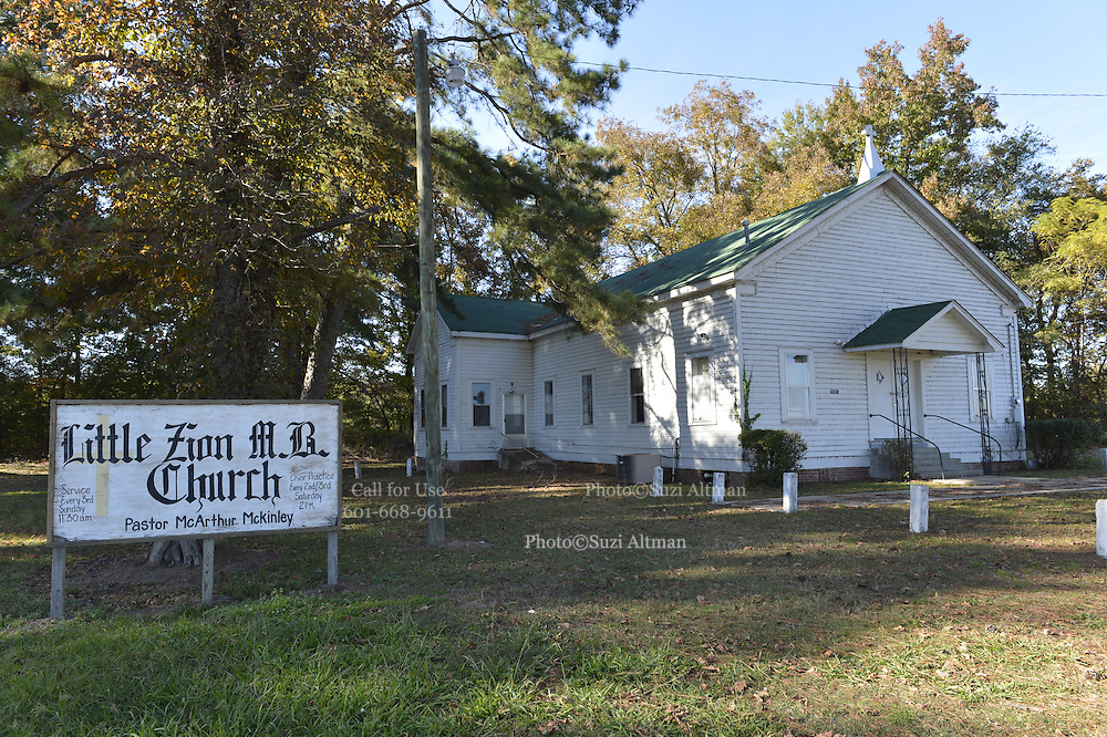 11/11/13 Greenwood, MS. Little Zion MB Church Mississippi Money Mississippi.Photo ©Suzi Altman/TheOneMediaGroup