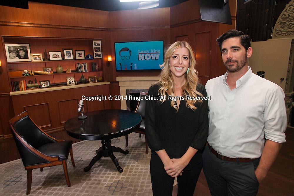 Allison Glader and Jason Rovou, heads of Ora.TV&rsquo;s L.A. production studio.<br /> (Photo by Ringo Chiu/PHOTOFORMULA.com)