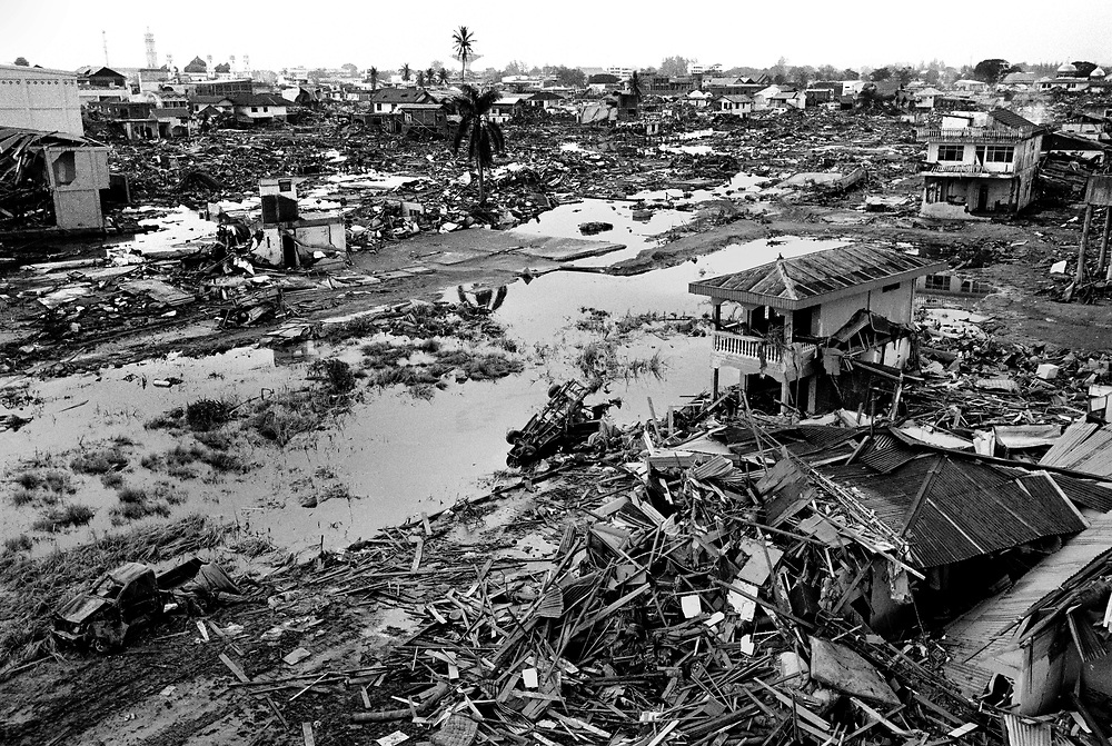 TSUNAMI AFTERMATH - Having survived a decades old  war between the Indonesian Military and GAM, Aceh is struck by a Tsunami on December 26th, 2004, claiming the lives of thousands.