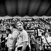 Entrée des athlètes, pendant la cérémonie d'ouverture des Jeux Nationaux Special Olympics 2017 d'Italie, pour handicappés mentaux