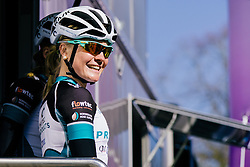 Emilie Moberg enjoys the Spring sunshine as Hitec Products are presented to the crowd.