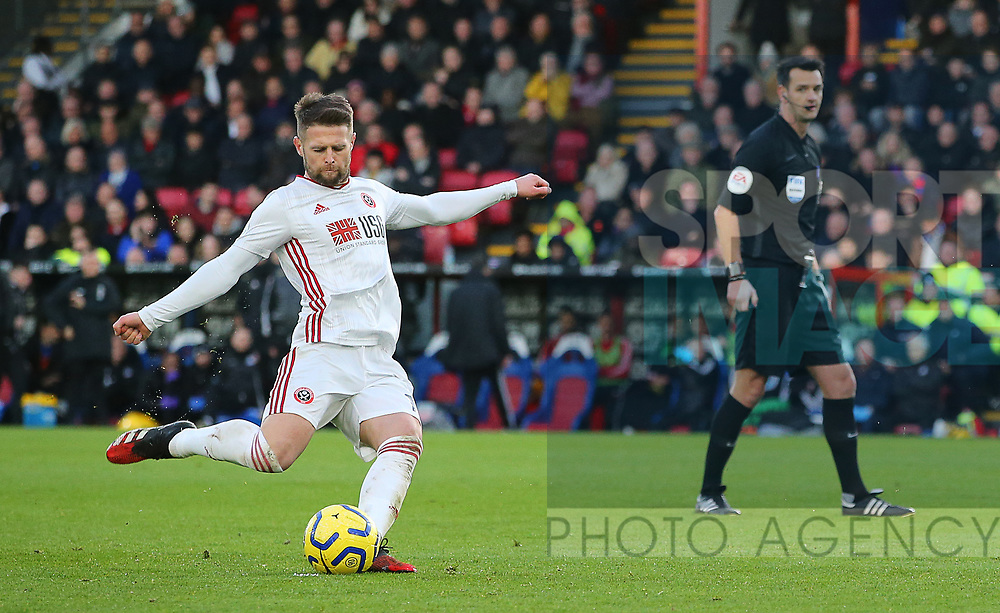 Sheffield United's Oliver Norwood takes a free kick during the Premier League match at Selhurst Park, London. Picture date: 1st February 2020. Picture credit should read: Paul Terry/Sportimage