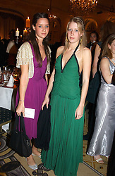 Left to right, INDIA LANGTON and ALICE ROTHSCHILD at a dinner in aid of the BAAF (British Association for Adoption & Fostering) held at The Savoy, London on 22nd March 2005.<br />