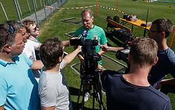 21.07.2015, Trainingsplatz, Walchsee, AUT, FC Augsburg, Trainingslager, im Bild Stefan Reuter (Geschaeftsfuehrer Sport FC Augsburg), Medienrunde auf dem Trainingsplatz, // during a training session of the German Bundesliga Club FC Augsburg at the Trainingsplatz in Walchsee, Austria on 2015/07/21. EXPA Pictures © 2015, PhotoCredit: EXPA/ Eibner-Pressefoto/ Krieger<br /> <br /> *****ATTENTION - OUT of GER*****