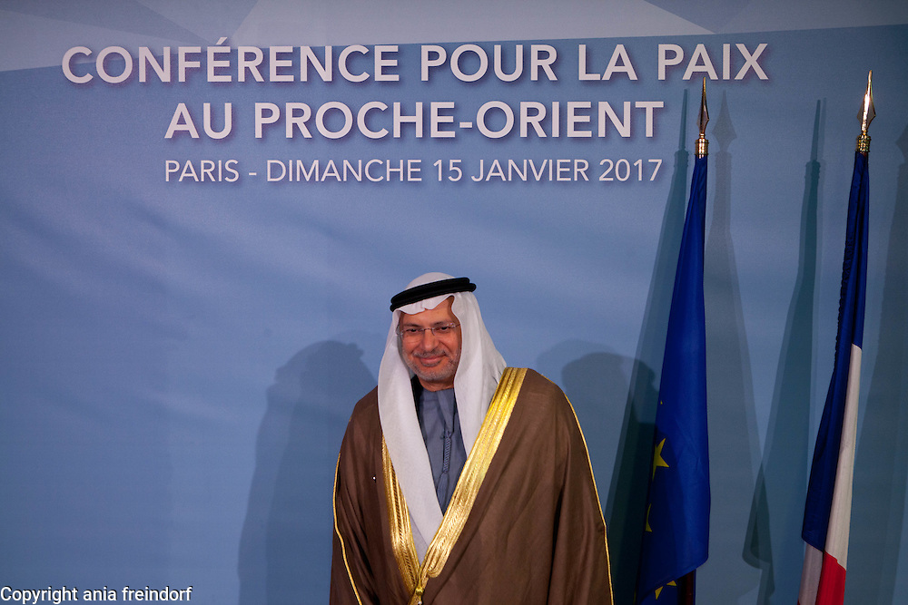 Middle East Peace Conference, Paris, France. International summit. 7O countries have participated in the summit. UEA, Anwar Bin Mohammed Gargash, Vice-Minister of Foreign Affairs
