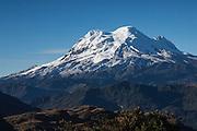 Antisana Volcano<br /> Andes<br /> ECUADOR, South America<br /> 5,704meters above sea level<br /> 18,714 feet<br /> 4th highest volcano in Ecuador 50km SE of Quito<br /> Last eruption 1801/2
