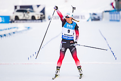 March 10, 2019 - –Stersund, Sweden - 190310 Arnd Peiffer of Germany celebrates after the Women's 10 km Pursuit during the IBU World Championships Biathlon on March 10, 2019 in Östersund..Photo: Petter Arvidson / BILDBYRÃ…N / kod PA / 92254 (Credit Image: © Petter Arvidson/Bildbyran via ZUMA Press)