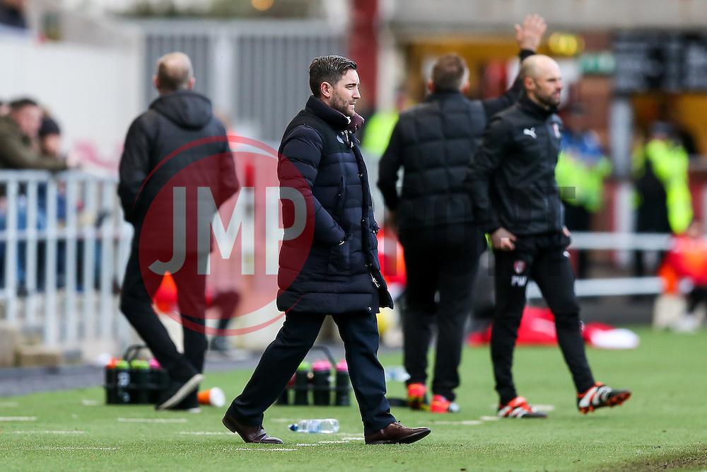 Bristol City manager Lee Johnson - Rogan Thomson/JMP - 04/02/2017 - FOOTBALL - Ashton Gate Stadium - Bristol, England - Bristol City v Rotherham United - Sky Bet Championship.