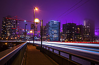 Cambie Bridge Traffic @ Night