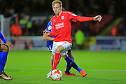 James Brophy during the EFL Sky Bet League 1 match between Swindon Town and Rochdale at the County Ground, Swindon, England on 18 October 2016. Photo by Daniel Youngs.