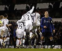 Photo: Olly Greenwood.<br />Tottenham Hotspur v Club Brugge. UEFA Cup. 02/11/2006. Spurs celebrates Robbie Keane's goal