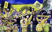 Football, Tippeligaen 14. oktober 2001. Strømsgodset-Bodø/Glimt 1-4. keeper  Supportere supporter Bodø/Glimt, illustrasjon.