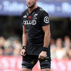 Ruan Botha of the Cell C Sharks during the Super Rugby match between the Cell C Sharks and the Western Force at Growthpoint Kings Park on May 06, 2017 in Durban, South Africa. (Photo by Steve Haag)