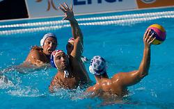 Samir Barac of Croatia vs Andro Buslje of Serbia during waterpolo Semifinal Round match between National teams of Croatia and Serbia during the 13th FINA World Championships Roma 2009, on July 30, 2009, at the Stadio del Nuoto,  Foro Italico, Rome, Italy. Serbia won 12:11. (Photo by Vid Ponikvar / Sportida)