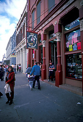 People walking and shopping at The Strand in Galveston Texas