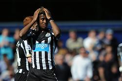 Newcastle United's Rolando Aarons cuts a dejected figure - Photo mandatory by-line: Dougie Allward/JMP - Mobile: 07966 386802 - 16/05/2015 - SPORT - football - London - Loftus Road - QPR v Newcastle United - Barclays Premier League