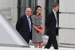 © Licensed to London News Pictures. 29/06/2017. London, UK. The Duchess of Cambridge leaves following a tour the V&A Exhibition Road Quarter's new spaces including The Sackler Courtyard, The Blavatnik Hall and The Sainsbury Gallery. Photo credit: Dinendra Haria/LNP