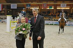 Miss Allyn Mc Cracken, member board BWP/NAD<br /> Rudy Eerdekens<br /> BWP Hengstenkeuring Moorsele 2009<br /> Photo © Hippo Foto