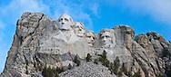 Fog clears revealing Mount Rushmore - Mount Rushmore National Memorial, South Dakota