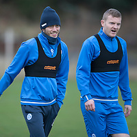 St Johnstone Training…30.12.16<br />Murray Davidson and Brian Easton pictured during training this morning ahead of tomorrow's game against Dundee<br />Picture by Graeme Hart.<br />Copyright Perthshire Picture Agency<br />Tel: 01738 623350  Mobile: 07990 594431