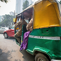 Jan 13, 2013 -  Kolkata, India. Auto Rickshaws switched to Liquid Petroleum Gas or LPG as more than 75% of the vehicles in Kolkata have managed to skip out on the government mandated anti-pollution control testing. The pollution measurements are 20% to 50% higher than safe limits at many parts of the city.<br /> <br /> Story Summary: It is said that the battle over global warming is to be won or lost in Asia. With growing populations and new economic boom in the global markets across Asia countries like India, Nepal and Cambodia have to grapple with the success and the environmental disaster that comes with ramped up production in unchecked or unregulated industries to compete in todays marketplace. The catastrophic air pollution makes for new problems to be dealt with such as a future health crisis, quality of life issues and the tarnished image of reduced visibility to world heritage sites for tourism.