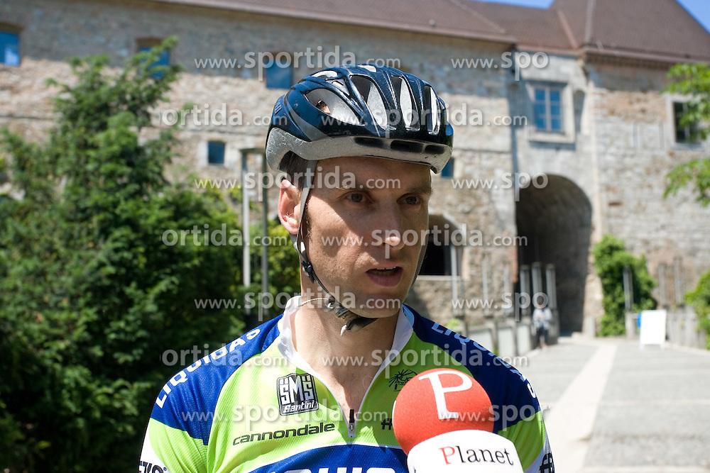Tomaz Grm of Butan plin at the end of 2nd stage of Tour de Slovenie 2009, on May 28, 2009, in Ljubljanski grad, Ljubljana, Slovenia. (Photo by Vid Ponikvar / Sportida)