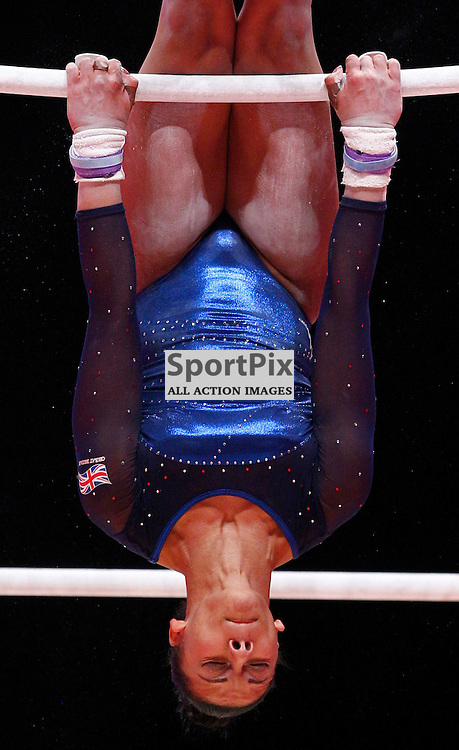 2015 Artistic Gymnastics World Championships being held in Glasgow from 23rd October to 1st November 2015...Rebecca Downie (Great Britain) competing in the Uneven Bars competition of the Womens Team Final...(c) STEPHEN LAWSON | SportPix.org.uk