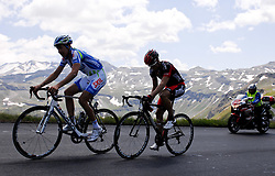 06.07.2011, AUT, 63. OESTERREICH RUNDFAHRT, 4. ETAPPE, MATREI-ST. JOHANN, im Bild Etappensieger und Glocknerkoenig Alexandre Geniez, (FRA, Skil Shimano), dahinter Martin Kohler, (SUI, BMC Racing Team) am Großglockner // during the 63rd Tour of Austria, Stage 4, 2011/07/06, EXPA Pictures © 2011, PhotoCredit: EXPA/ S. Zangrando