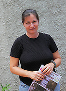 Woman working at the museum in Artemisa, Cuba.