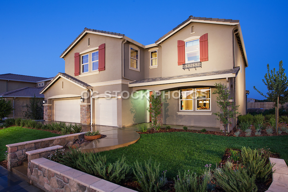 Two Story New Home with Three Car Garage