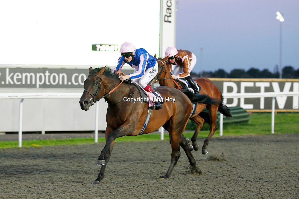 Silk train and Jamie Spencer winning the 7.50 race