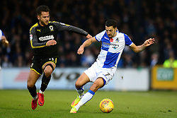 Liam Sercombe of Bristol Rovers is closed down by Harry Forrester of AFC Wimbledon - Mandatory by-line: Dougie Allward/JMP - 18/11/2017 - FOOTBALL - Memorial Stadium - Bristol, England - Bristol Rovers v AFC Wimbledon - Sky Bet League One