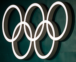 February 8, 2018 - Pyeongchang, South Korea - 180208 The Olympic Rings during the round robin of the curling mixed doubles between OAR (Russia) and Norway ahead of the 2018 Winter Olympics on February 8, 2018 in Pyeongchang..Photo: Petter Arvidson / BILDBYRN / kod PA / 91954 (Credit Image: © Petter Arvidson/Bildbyran via ZUMA Press)