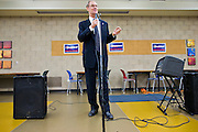06 OCTOBER 2010 - PHOENIX, AZ: Terry Goddard (CQ) speaks at a town hall style campaign meeting at Pecos Community Center in the Ahwatukee section of Phoenix. Goddard lost the election to sitting Governor Jan Brewer, a conservative Republican.     PHOTO BY JACK KURTZ