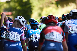 Movistar Women's Team in the bunch at Emakumeen Bira 2018 - Stage 1, a 108 km road race starting and finishing in Legazpi, Spain on May 19, 2018. Photo by Sean Robinson/Velofocus.com