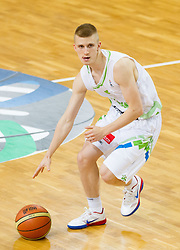 Luka Rupnik of Slovenia during basketball match between National teams of Slovenia and Lithuania in Preliminary Round of U20 Men European Championship Slovenia 2012, on July 14, 2012 in Domzale, Slovenia. Slovenia defeated Lithuania 87-81. (Photo by Vid Ponikvar / Sportida.com)
