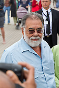 Francis Ford Coppola arrives for a tribute paid to him on the 'planches' of Deauville at the 37th Deauville Film Festival on September 3, 2011 in Deauville, France.