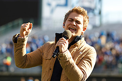 Dec 31, 2011; San Francisco CA, USA; Recording artist Hunter Hayes sings the national anthem before the game between the Illinois Fighting Illini and the UCLA Bruins at AT&T Park. Illinois defeated UCLA 20-14. Mandatory Credit: Jason O. Watson-US PRESSWIRE