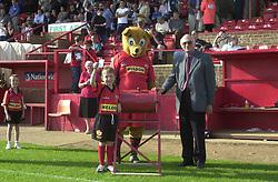 Mascot Peter maligner Chairman pick Klondyke Ticket,    Kettering Town v Northwich Victoria Rockingham Road   21st September 2002