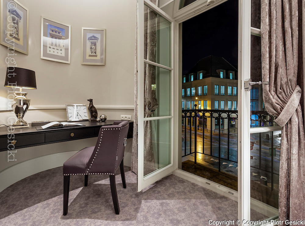 Hotel Bellotto Warsaw Poland. 5 stars hotel professional interior photography by Piotr Gesicki