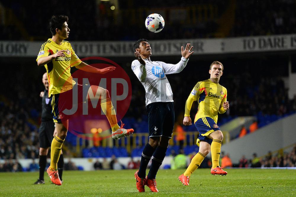 Tottenham's midfielder Paulinho   - Photo mandatory by-line: Mitchell Gunn/JMP - Tel: Mobile: 07966 386802 07/04/2014 - SPORT - FOOTBALL - White Hart Lane - London - Tottenham Hotspur v Sunderland - Premier League