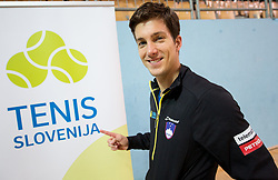 Aljaz Bedene of Slovenia after  the Day 2 of Davis Cup 2018 Europe/Africa zone Group II between Slovenia and Poland, on February 4, 2018 in Arena Lukna, Maribor, Slovenia. Photo by Vid Ponikvar / Sportida