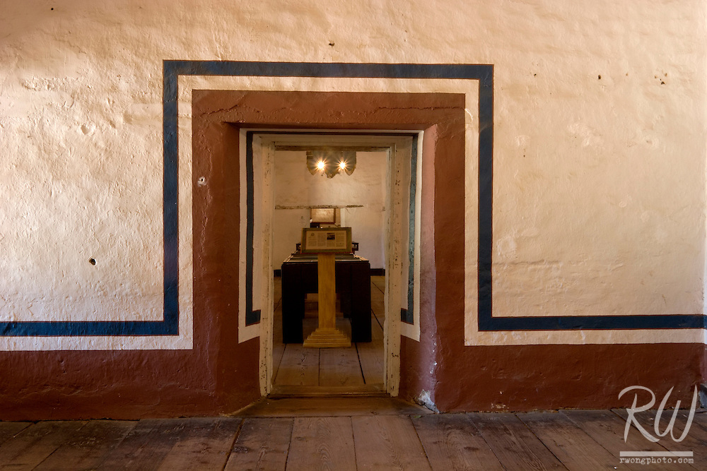 Painted Doorway, Mission San Juan Bautista, California