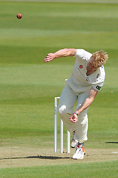 Liam Norwell of Gloucestershire bowls - Photo mandatory by-line: Dougie Allward/JMP - Mobile: 07966 386802 - 07/06/2015 - SPORT - Football - Bristol - County Ground - Gloucestershire Cricket v Lancashire Cricket - LV= County Championship