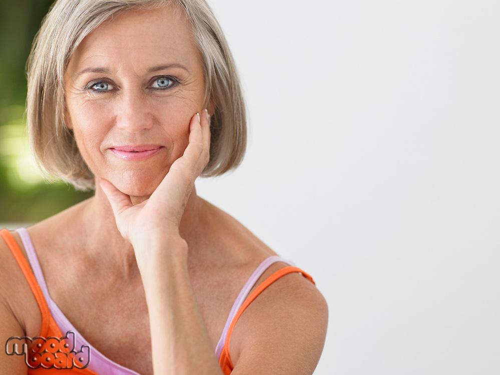 Woman on verandah portrait