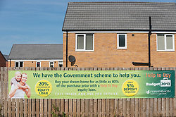 Persimmon houses for sale as part of the Governments 'Help to Buy' scheme, Lakeside Walk, Manvers Way, Wath upon Dearne, Rotherham, South Yorkshire.