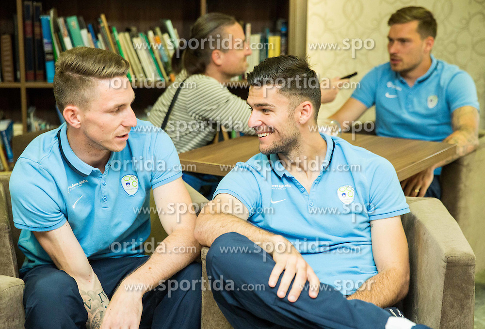 Rajko Rotman and Rok Kronaveter at Slovenia team gathering before friendly football match against National teams of Sweden and Turkey, on May 23, 2016 in Hotel Kokra, Brdo pri Kranju, Slovenia. Photo by Vid Ponikvar / Sportida