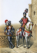 Captain Archers,  Chevalier du Guet, 15th century. From 1254-1791  Guet Royal was responsible for order in Paris. From 1791 role transferred to the National Guard .   'Histoire des corps de troupes de la ville de Paris',  1887. France