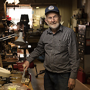 Date: 4/16/15<br /> Desk: BIZ<br /> Slug: RETIRING<br /> Assign Id: 30173461A<br /> <br /> Retired 3M electrical engineer Bob Nepper, 82, has a basement workshop in his North St. Paul, Minnesota home filled with devices and tools he has designed and built over the years. Much of his work has been focused on water pasteurization, and he (along with a team of local piece workers who makes parts and assemble them) manufactures his SPORTSWAPI and SUPERWAPI, a small device that measures water temperature using melting wax, for a local company that makes solar ovens.  <br /> <br /> <br /> Photo by Angela Jimenez for The New York Times <br /> photographer contact 917-586-0916